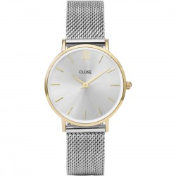 Orologio Donna  Minuit Mesh Gold/Silver - Cluse