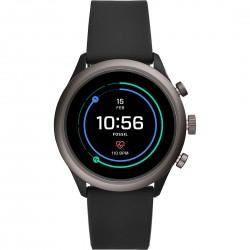 Smartwatch Uomo Sport Cinturino Silicone Nero - Fossil