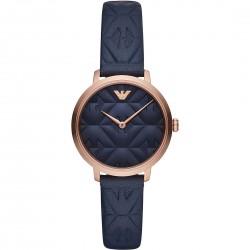Orologio Donna Modern Slim Pelle Blu - Emporio Armani