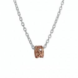 Pendente Filodellavita Mini Collection 13 Fili Oro Rosa 9k con Diamante Bianco 0.02 ct - Rubinia Gioielli