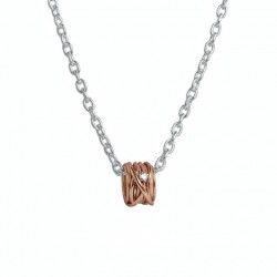 Pendente Filodellavita Mini Collection 13 Fili Oro Rosa 9k con Diamante Bianco 0.02 ct - Rubinia Gioielli
