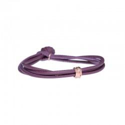 Bracciale Nappa Viola Mini Oro Rosa - misura M - Rubinia Gioielli